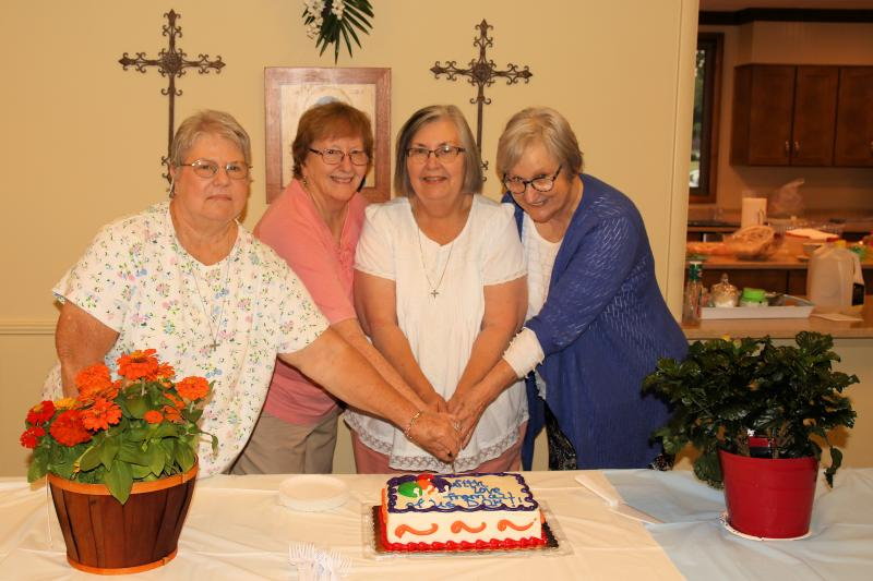 New Officers: Anne Thompson, Marie Brian, Doris McClain, and Sue Mobley